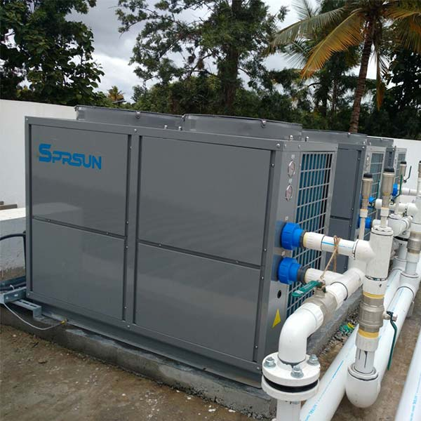SPRSUN commercial air source heat pump project in India